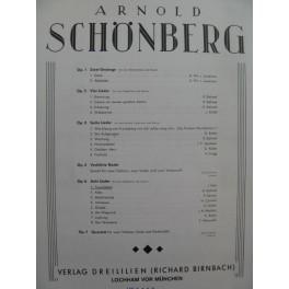 SCHÖNBERG Arnold Traumleben Chant Piano