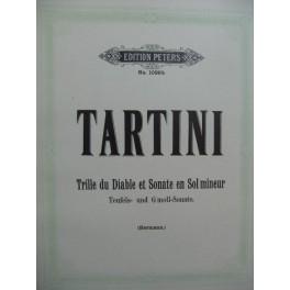TARTINI Giuseppe Trille du Diable et Sonate en Sol mineur Violon Piano