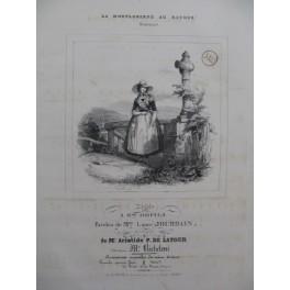 DE LATOUR Aristide La Montagnarde au Retour Piano Chant ca1840