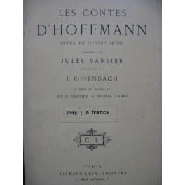 OFFENBACH Jacques Les Contes d'Hoffmann Opéra Texte 1930