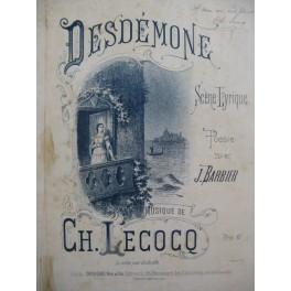 LECOCQ Charles Desdémone Dédicace Chant Piano ca1885