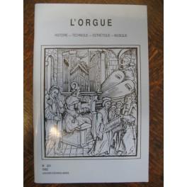 L'ORGUE Revue N° 221 Janvier Mars 1992