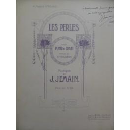 JEMAIN Joseph Les Perles Dédicace Chant Piano 1912