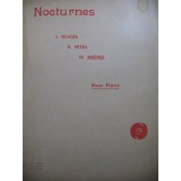 DEBUSSY Claude Nocturne No 3 Sirènes Piano 1923