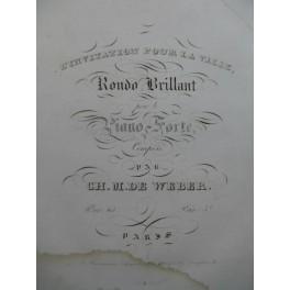 Ch. M. DE WEBER L'Invitation pour la Valse Piano ca1832