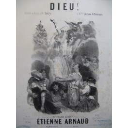 ARNAUD Etienne Dieu ! Nanteuil Chant Piano ca1850