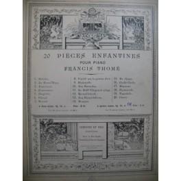 THOMÉ Francis Cache-Cache Piano 4 mains XIXe