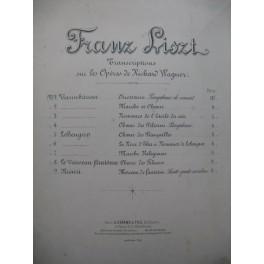 LISZT Franz Choeur de Fileuses Vaisseau Fantôme Wagner Piano XIXe