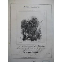 CONCONE Joseph Jeanne Hachette Chant Piano ca1845