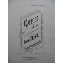 GUIRAUD Ernest Caprice Violon Piano 1883