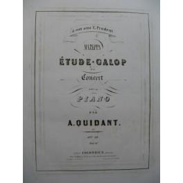 QUIDANT Alfred Grande Etude Galop Piano ca1850