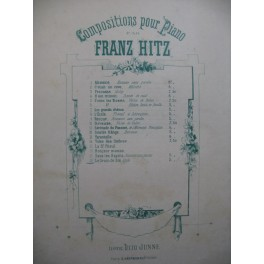HITZ Franz Le Grain de Blé Piano XIXe siècle