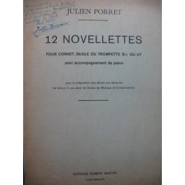 PORRET Julien 12 Novelettes Piano Cornet ou Bugle ou Trompette 1972