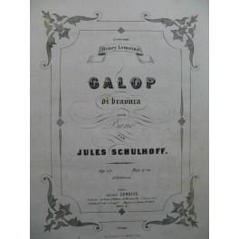 SCHULHOFF Jules Galop Di Bravura Piano XIXe siècle