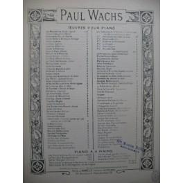 WACHS Paul Tiens C'est Gentil Piano XIXe siècle