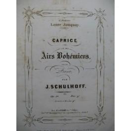SCHULHOFF J. Caprice sur des Airs Bohémiens Piano 4 mains ca1860