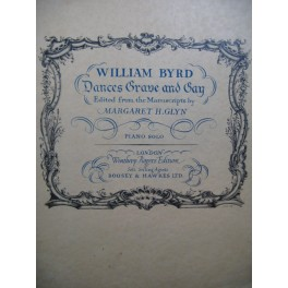 BYRD William Dances Grave and Gay Piano