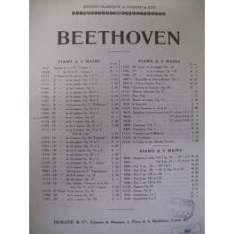 BEETHOVEN Ludwig van Sonate pour piano n° 11 op 22
