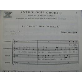 JANEQUIN Clément Le Chant des Oyseaux Renaissance Chant 1978