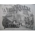 STRAUSS La Belle Hélène Offenbach Quadrille Piano 1866