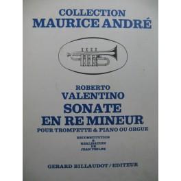 VALENTINO Roberto Sonate en Ré mineur Trompette Piano ou Orgue 1970