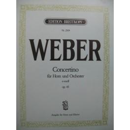 WEBER Concertino Horn op 45 Piano Cor