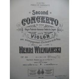 WIENIAWSKI Henri Concerto No 2 Violon Piano XIXe