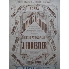 FORESTIER J. Echos d'Italie op 38 Piano Cornet à pistons XIXe
