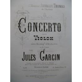 GARCIN Jules Concerto op 14 Piano Violon 1872