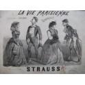 STRAUSS La Vie Parisienne J. Offenbach Piano 4 mains 1866