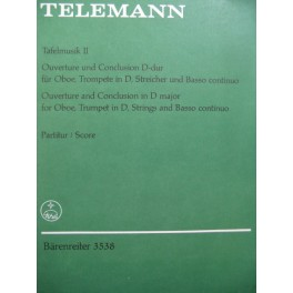 TELEMANN G. P. Tafel-Musik II Orchestre 1962