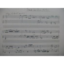 COUEZ René Toccata pour 2 Guitares Manuscrit