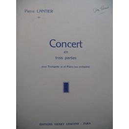 LANTIER Pierre Concert Trompette Piano 1957
