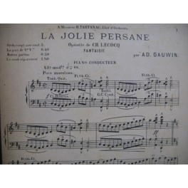 GAUWIN Adolphe La Jolie Persane Fantaisie Orchestre
