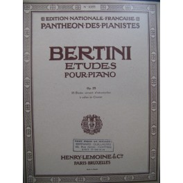 BERTINI Henri Etudes op 29 Piano 1961
