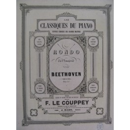 BEETHOVEN Rondo Piano XIXe siècle