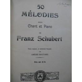 SCHUBERT Franz 50 Mélodies Chant Piano 1911