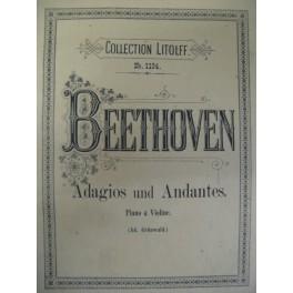 BEETHOVEN Ludwig van Adagios und Andantes
