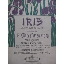 MASCAGNI Pietro Iris Serenata di Jor Chant Piano 1898