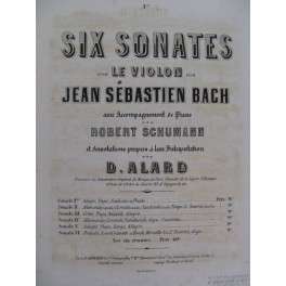 BACH J. S. Sonate No 2 Violon Piano ca1860