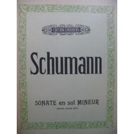 SCHUMANN Robert Sonate en Sol min op 22 Piano 1948