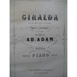 ADAM Adolphe Giralda Opéra Piano solo ca1855