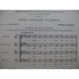 MAUDUIT Jacques Amour Amiables Fillettes Renaissance Chant 1950