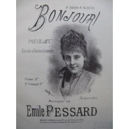 PESSARD Emile Bonjour Chant Piano XIXe