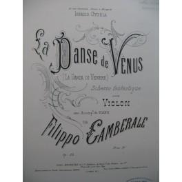 GAMBERALE Filippo La Danse de Vénus Violon Piano ca1885