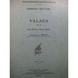 BRAHMS Johannes Valses op 39 Piano