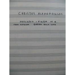 ALEXOPOULOS Christos Preludio Fuga No 4 Manuscrit pour 2 Guitares