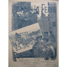 LACOME Paul La Feria Suite Espagnole Piano 4 mains 1892