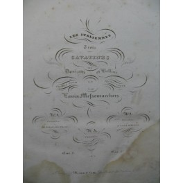 MESSEMAECKERS Louis Cavatine de Torquato Tasso Piano 1834