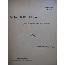 BOZZA Eugène Quatuor en La Violon Alto Violoncelle 1946